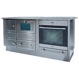 G136, Emilio 900, Gast 4200, Struktur mosaik schwarz mit Elektroherd Verlängerung und Brandschutzeinheit