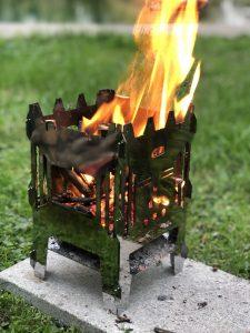 MoKo mobiler Kocher als mini Feuerkorb