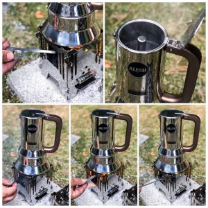 MoKo mobiler Kocher Collage Kaffee