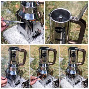MoKo mobiler Kocher Collage Kaffee
